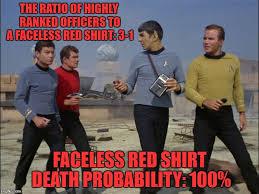 Red Shirt Star Trek Meme - image tagged in memes star trek star trek red shirts captain kirk