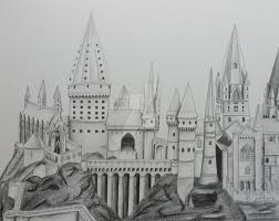 drawn castle hogwarts pencil and in color drawn castle