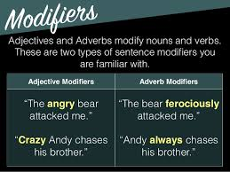 grammar subject predicate modifiers