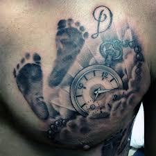 clock cloud chest tattoos golfian com
