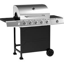 5 burner gas grill stainless steel black outodoor cooking bbq ebay