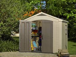 Two Story Storage Sheds Sheds Unlimited Amazon Com Keter Factor Large 8 X 6 Ft Resin Outdoor Backyard