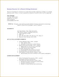 Graduate Internship Resume Resume Resume Template College Student