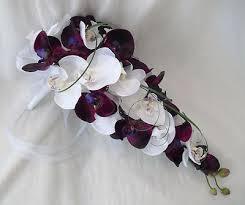 Orchid Bouquet Artificial Wedding Flowers Orchid Bouquet For Brides In Purple