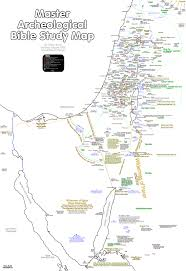 Map Of Canaan Bible Maps Master Archeological Bible Study Map Of The Promised