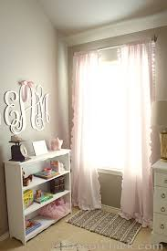 White And Pink Nursery Curtains Baby Nursery Decorchick