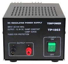 amazon com tekpower tp1863 12 amp dc 13 8v regulated power supply