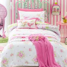 shabby chic kids bedding set cartoon single bed duvet quilt