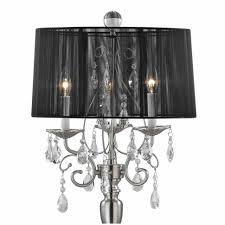 black drum l shade crystal chandelier floor l with black drum shade in satin crystal