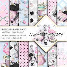 a mad tea party patterns patterns creative market