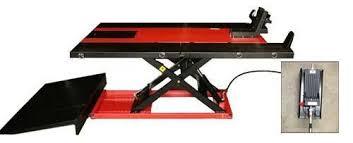 motorcycle lift table for sale pro 2500 pneumatic utv atv motorcycle lift nhproequip com