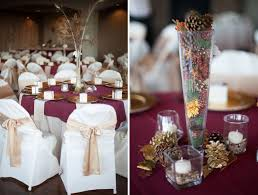 Gold Table Centerpieces by Maroon And Gold Wedding Decor 598