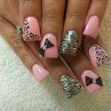Nail Designs Cheetah Zebra And Cheetah Nail Designs Deboto Home Design