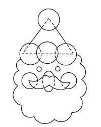 christmas crafts santa faces