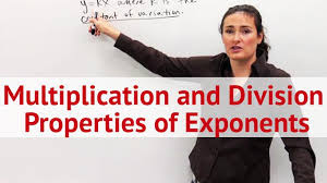 multiplication and division properties of exponents concept