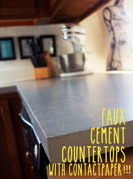 contact paper faux cement countertops with contact paper under the snowball tree