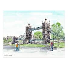 tower bridge postcards zazzle