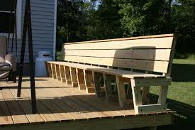 how to build deck bench seating there are different types of seating options indiana the deck