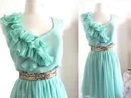 mint blue bridesmaid dresses mint blue green wedding ruffles and bridesmaid dress