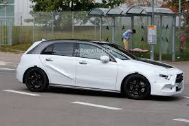 green mercedes a class 2019 mercedes a class spied with minimal camouflage should debut