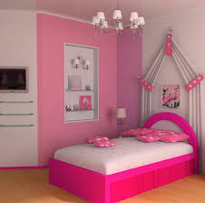 Bedroom  Endearing Pink Girl Bedroom Color Design Decorating - Color design for bedroom