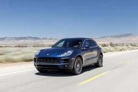 porsche dark blue metallic 2015 porsche macan s in dark blue metallic color driving front