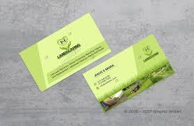 Landscape Business Cards Design J U0026 E Landscaping Business Card Graphic Wallet Graphic Wallet