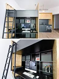Studio Work Desk This Small Apartment Has Been Designed As A Live Work Space For A
