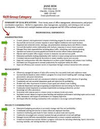 Sample Skills For Resume by Resume Template Category Page 1 Vinotique Com
