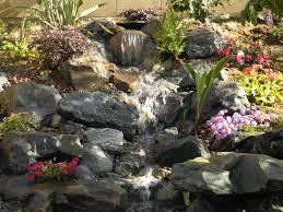 backyard waterfall landscaping ideas image of landscape design