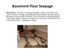 Fix Basement Floor Cracks by Water Coming Through Basement Floor Basements Ideas