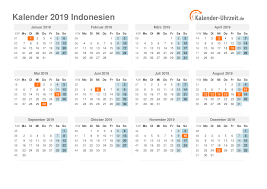 Kalender 2018 Hari Raya Idul Fitri Feiertage 2019 Indonesien Kalender übersicht