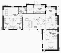 plan maison contemporaine plain pied 4 chambres plan maison plain pied 4 chambres avec suite parentale unique plan