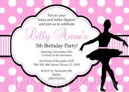 ballerina birthday invitations u2013 gangcraft net