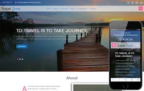 travel agency mobile website templates