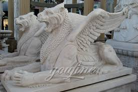 marble lions for sale winged white marble lion statue for decoration marble bronze
