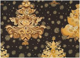 fancy christmas fancy christmas tree in gold on black patchwork quilting