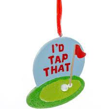 i d tap that golf ornament retrofestive ca