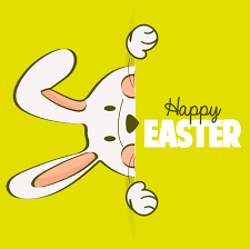 free easter cards happy easter card with rabbit vector 04 vector card