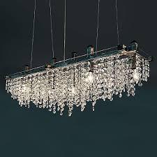 Broadway Linear Crystal Chandelier Crystal Chandeliers Crystal Pendants U0026 Suspensions At Lumens Com