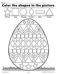 free printable easter egg coloring pages free easter egg shapes worksheet u0026 coloring page worksheets