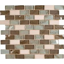 Glass Mosaic Tile Kitchen Backsplash Ideas Kitchen Rustic Beige Backsplash Home Depot For Kitchen Decor Idea