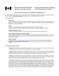 best ideas of sample covering letter for canada tourist visa