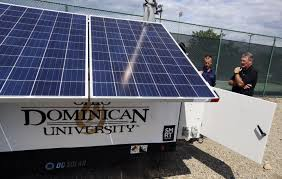 Solar Power Traffic Lights by Portable Solar Tech Donated To Ohio Dominican Through Smart
