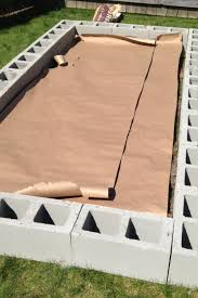 Making A Raised Bed Garden From Roof Panels How To Build A Cinder Block Raised Garden Bed Sunshine And Rainy Days