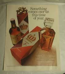 vintage 60 u0027s seagram u0027s 7 christmas print ad home bar pub decor