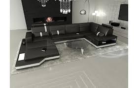 Wohnzimmer Couch G Stig Sofas U0026 Ledersofa Ledersofa Wohnlandschaft Messana Schwarz Weiss