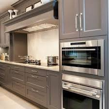Gray Painted Kitchen Cabinets by Gray Kitchens Design Ideas
