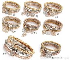 rhinestone bracelet charms images Hot sale valentine 39 s day gif charm women bracelet gold silver rose jpg