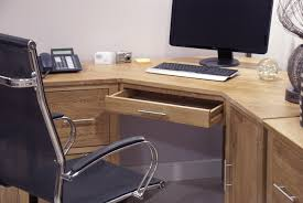 Large Corner Computer Desk Eton Solid Oak Furniture Corner Computer Desk